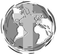 logo globe with cross